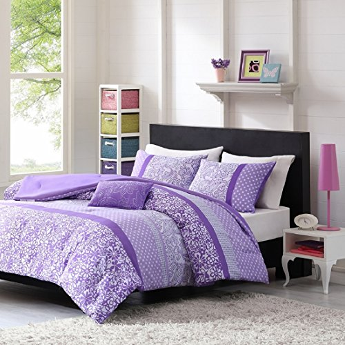 Great Amazon.com: Teen Girl Comforter Sets Purple Lavender Lilac Bedding Flower  Paisley Polka Dot Design With Embroidered Pillow Includes Bonus Sleep Mask  From ...