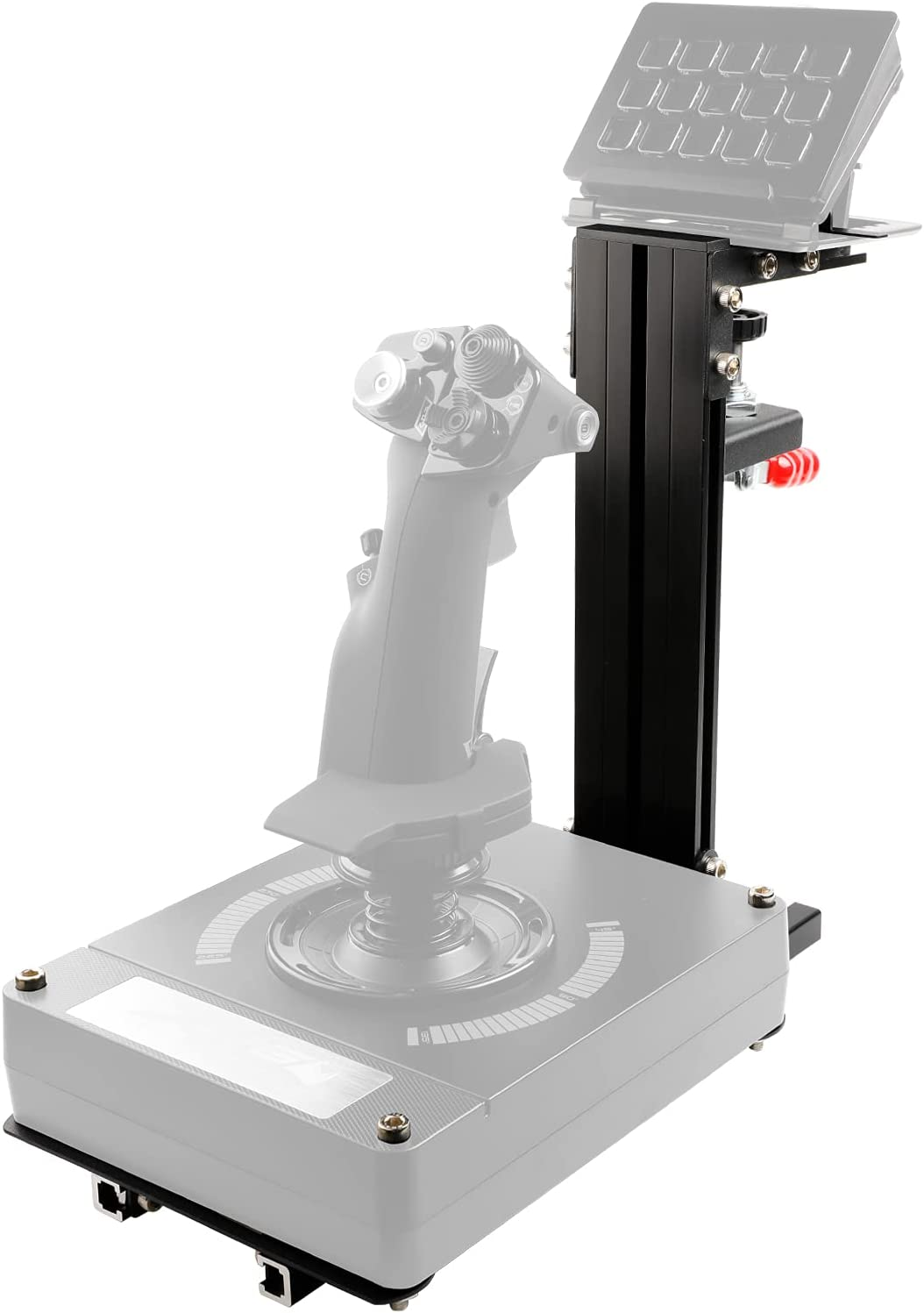 JUYEER Desk Mount Compatible with Almost All of The HOTAS Series Flight Simulation Controller-for The Flight Sim Game Joystick, Throttle and Hotas Systems. (Game Devices Not Included) - Black: Computers & Accessories