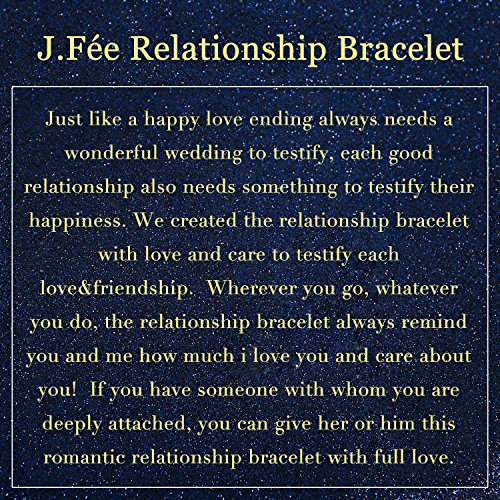 J.Fée Relationship Couples Bracelet His-and-Hers Matte Black Onyx White Howlite Distance Bracelet 7in&8in (7 inch White&Black) by J.Fée (Image #1)