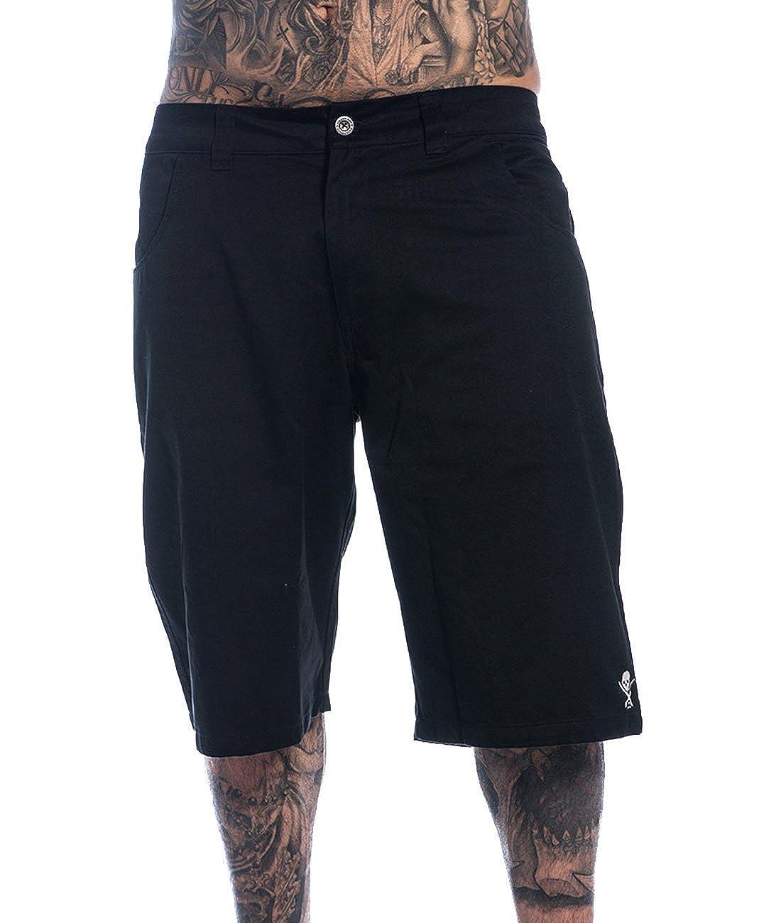 ba16c98d7a Sullen Clothing - Sullen Art Collective Men's Shorts Pier Walkshorts - Black  - 30 W: Amazon.co.uk: Clothing