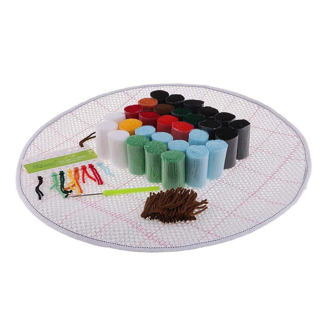 Katze /& Eule 2 Set Kn/üpfteppich f/ür Kinder und Erwachsene Myriad Choices Acryl-Mischgewebe Haken Kit
