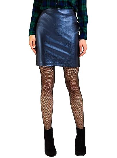 Naf Naf Falda Metalizada Azul para Mujer: Amazon.es: Ropa y accesorios