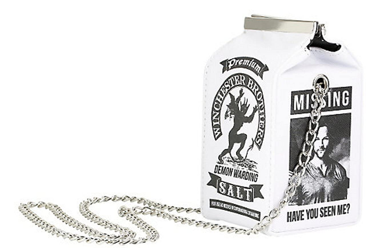 Supernatural Salt Carton Crossbody Bag Handbag Purse Winchester