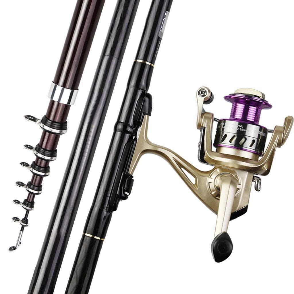 テレスコピックフィッシングロッドとリールコンビネーション釣り糸釣りギア釣り竿用青年釣り旅行アウトドア釣りでアクセサリー 6.3M set  B07PLDD2QD