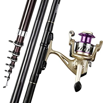 Amazon com : Zyu Telescopic Fishing Rod and Reel Combos with