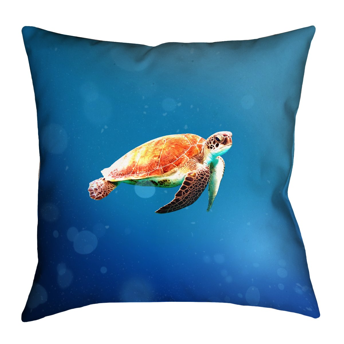 ArtVerse Katelyn Smith 40 x 40 Floor Double Sided Print with Concealed Zipper /& Insert Sea Turtle Pillow
