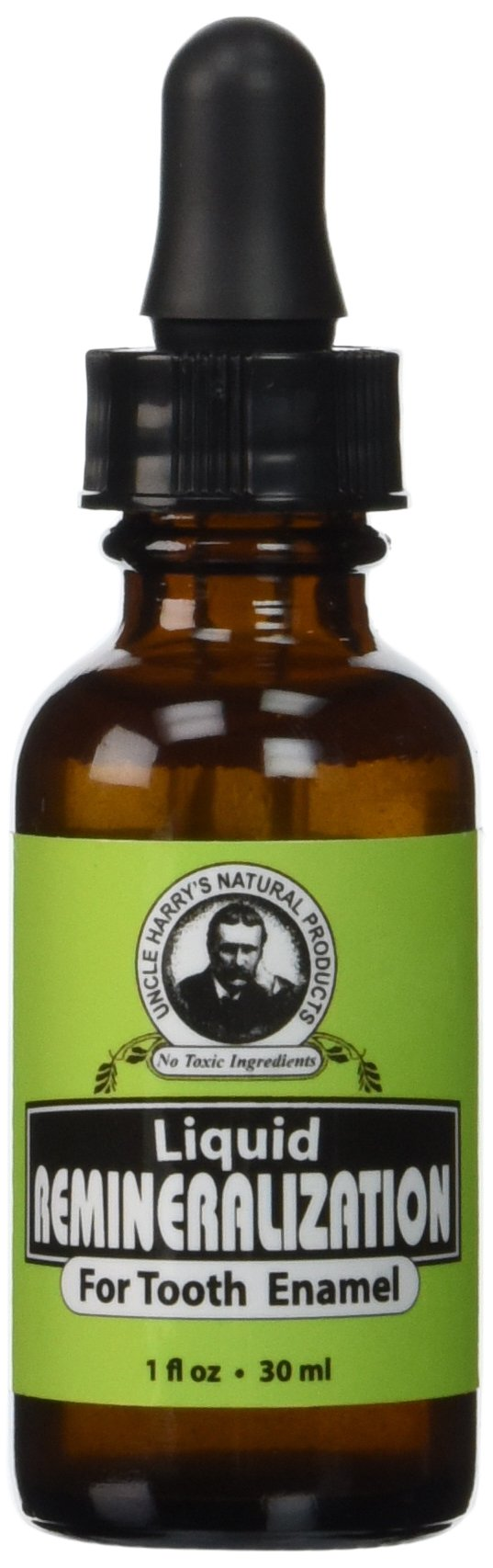 Uncle Harry's Natural & Fluoride-free Remineralization Liquid For Tooth Enamel - Freshens Breath & Strengthens Teeth (1 oz.)