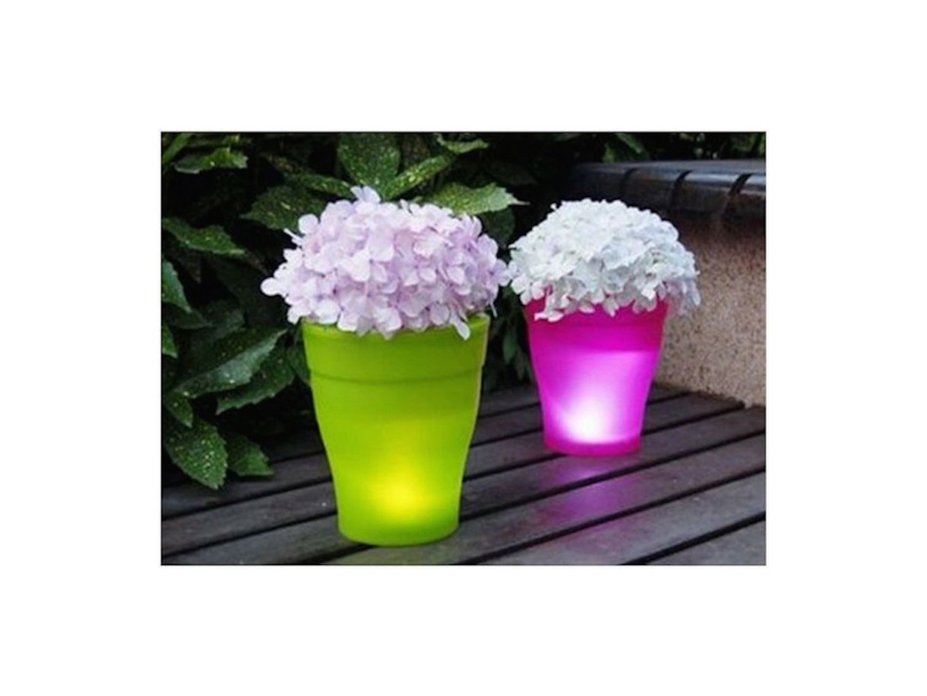 SALE Solar Illuminated Planter (Pink) Led Lighted Solar Flower Pot Lamp Urn Decorative Garden Led Plant Pot Modern Planter Vase