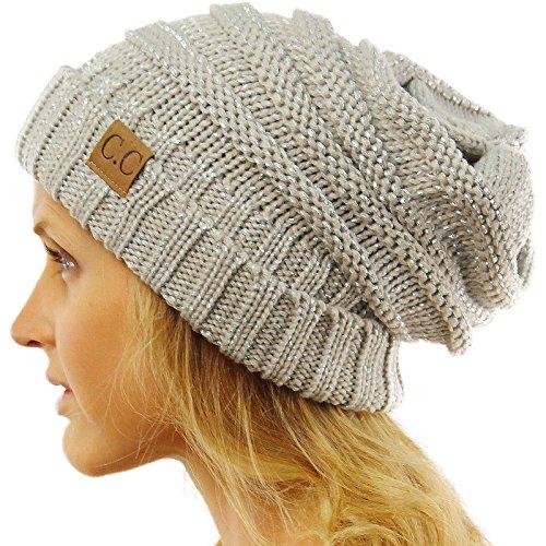 Oversized Chunky Thick Soft Stretch Knit Slouch Beanie Skull Ski Hat Cap - Oversize Shop
