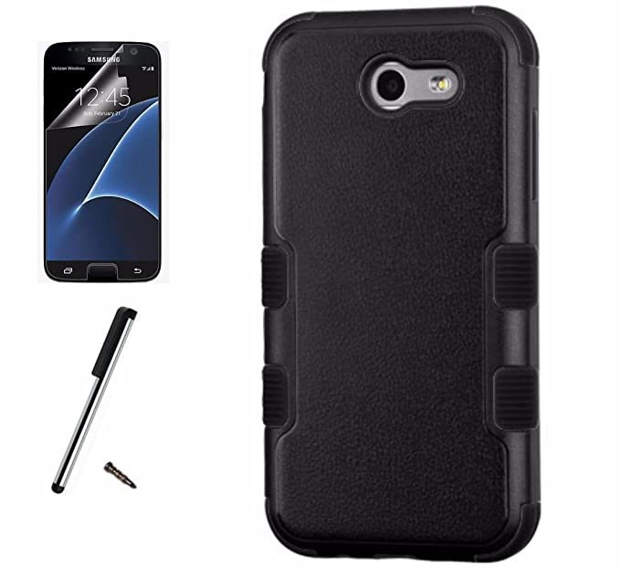 For Samsung Galaxy J3 Emerge Case / Galaxy J3 Prime Case / Amp Prime 2 Case  / Express Prime 2 Case / Luna Pro / Sol 2 Dual Layer Tuff Armor Hybrid
