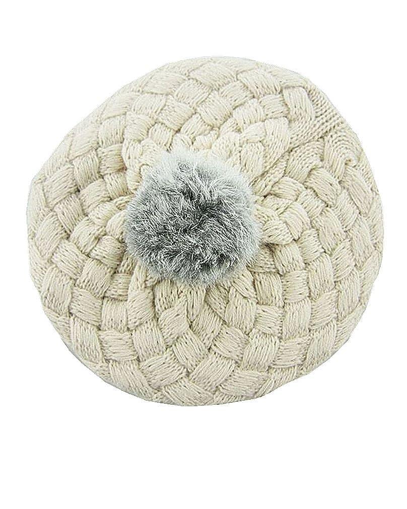 SAMGU Bambino ragazza Palla Crochet Autunno inverno coniglio Capelli Beanie Cappelli Bambini a maglia itsdetm1611061