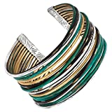 Silpada 'Fresco' Sterling Silver and Brass Cuff Bracelet, 7.5""
