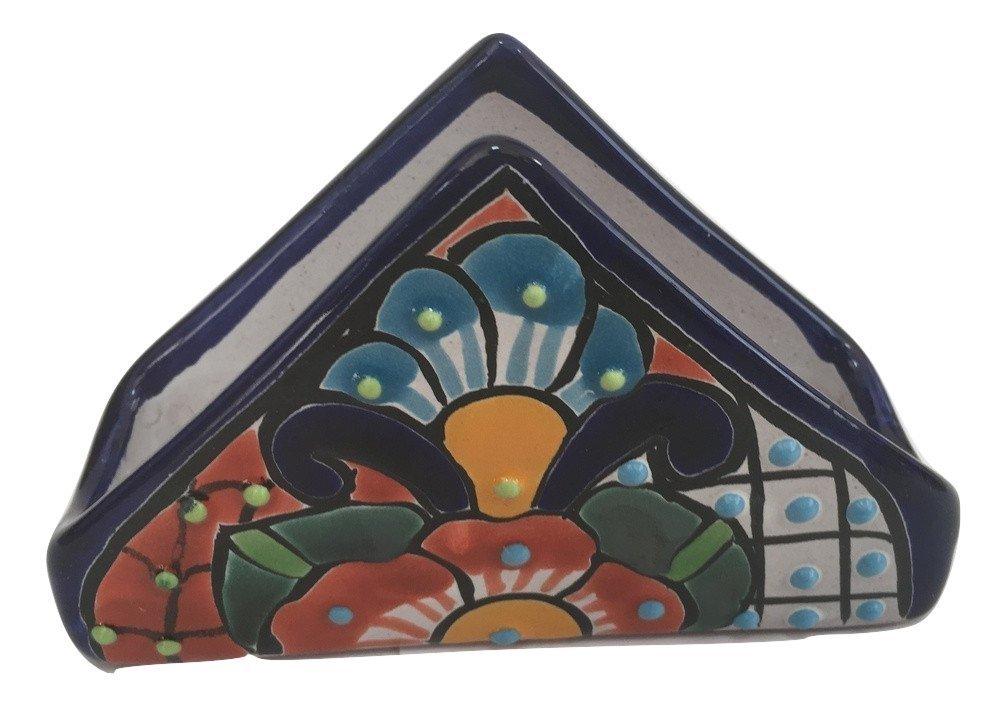 Talavera Napkin Holder - Hand Painted Mexican Pottery   B071YFKG5S