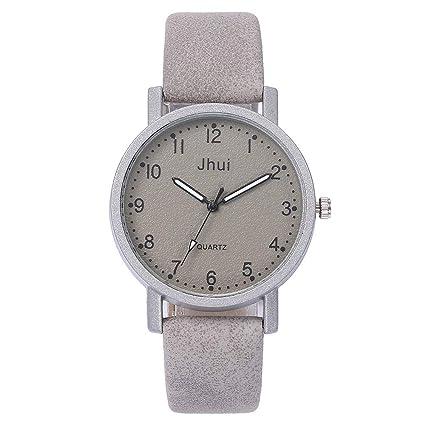 Relojes Pulsera Mujer,BBestseller Cuero Casual Analógico de Cuarzo Relojes Impermeable Accesorios Reloje Pulsera (Caqui): Amazon.es: Ropa y accesorios