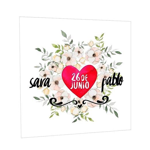Photocall Floral Personalizado | Decoración de boda ...