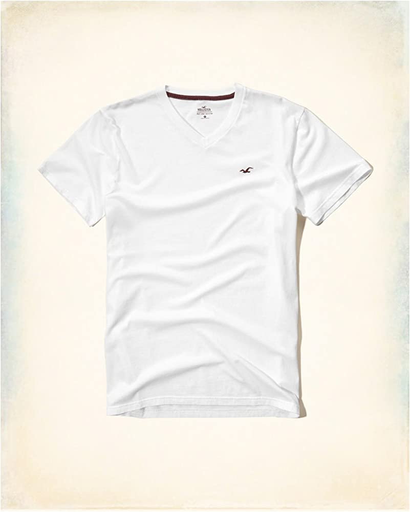 Hollister HCO Logo - Camiseta para Hombre (Talla M), diseño de Rayas, Color Blanco: Amazon.es: Ropa y accesorios