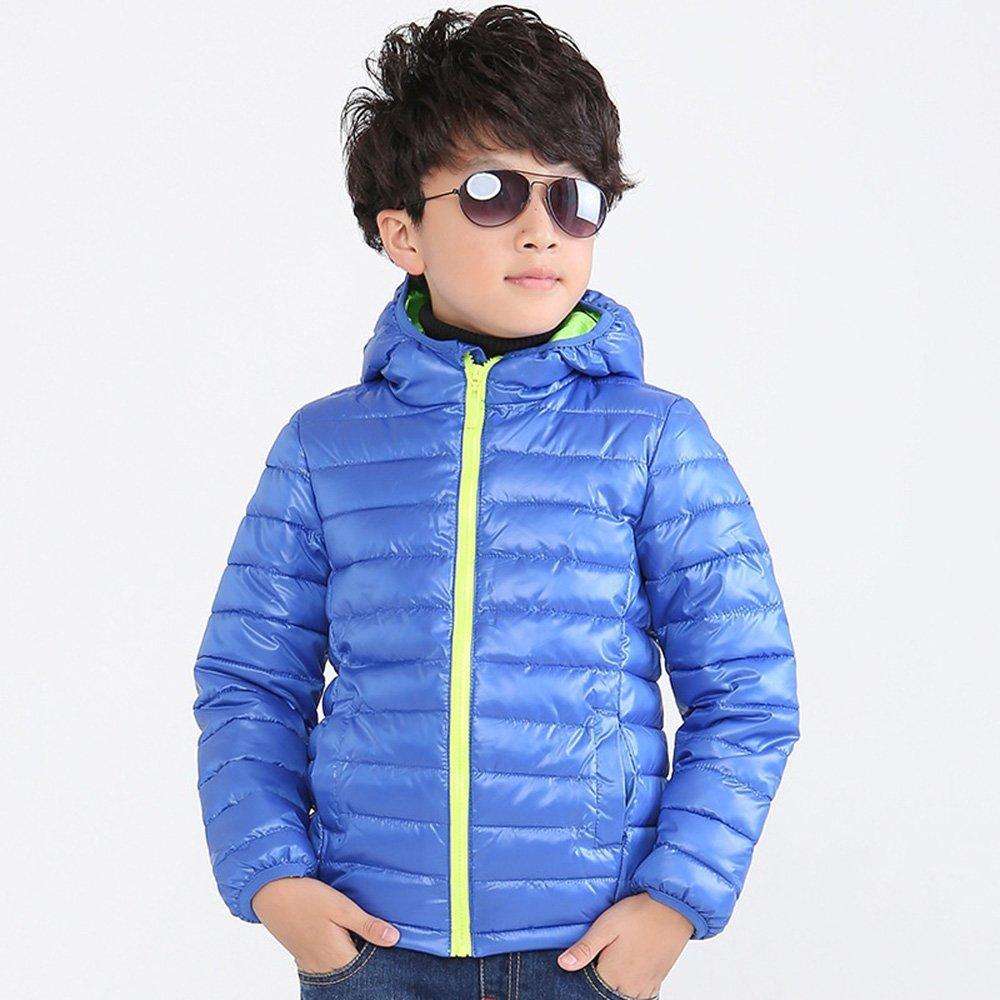 LISIBOOO 3-10 Years Baby Boys Winter Jacket Coat Fashion Winter Jacket Outwear Kids Warm Cotton Padded Coat (T5-6, Blue)