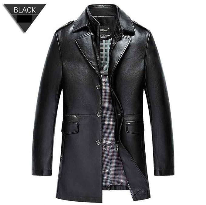 Chaqueta de cuero de los hombres abrigos PU prendas de abrigo hombres negocios invierno de piel