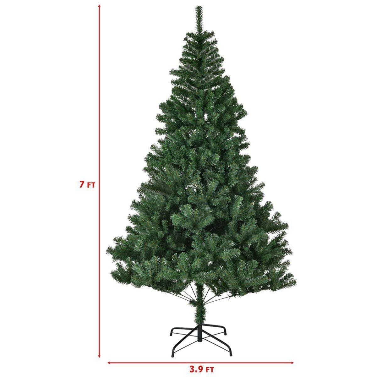 Amazon.com: Goplus 7ft Christmas Tree Artificial Unlit Premium ...