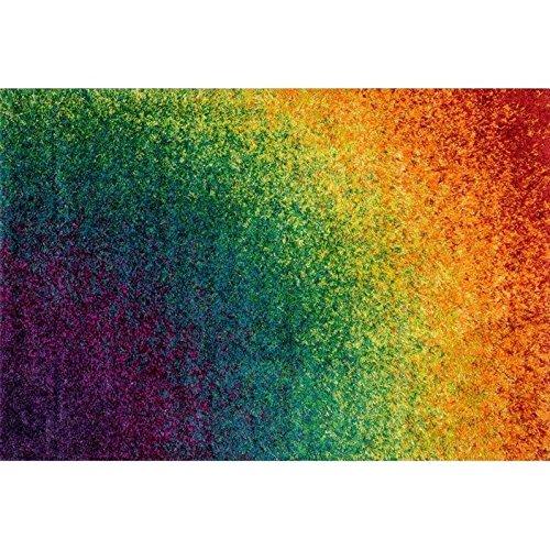 Loloi Barcelona Collection Bright Shag Area Rug, 5-Feet 2-Inch by 7-Feet 6-Inch, Rainbow