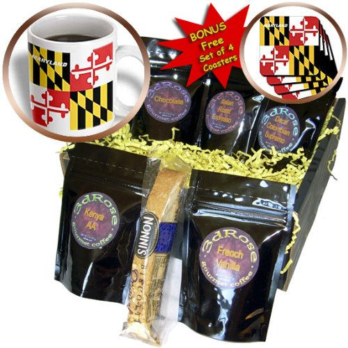 Florene State Flags - State Flag Of Maryland - Coffee Gift Baskets - Coffee Gift Basket (cgb_45066_1)
