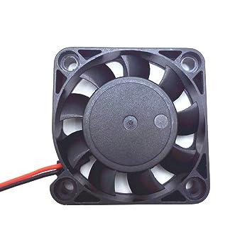 Solanton 5V 0.14A 40x40x10mm pequeño Micro Ventilador refrigerante 4cm 4010 sin escobillas DC USB Ordenador portátil Ventilador refrigerador 40mm x 10mm: ...