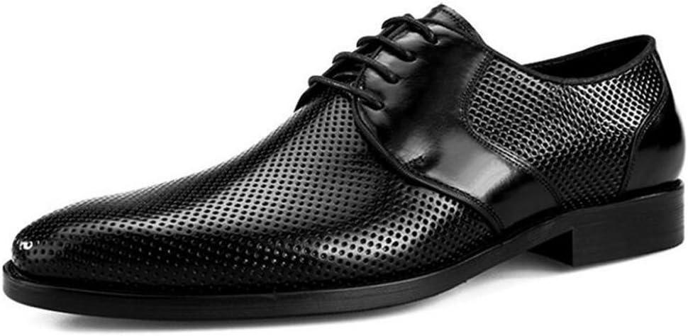 Schwarz 42 EU GAOLIXIA Sommer-Komfort-gehende Schuhe hohles Breathable-Leder-M&au ;nner beschuht Gesch&au ;fts-Klagen-k&uu ;hle Leder-Schuh-M&au ;nner Schuh-Sandelholze