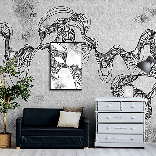 Framed for Living Room Bedroom Creative Idea Abstract Lines Theme for