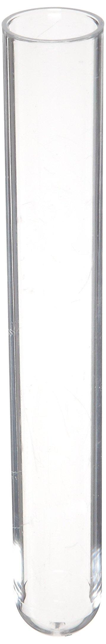 American Educational Plastic 10mL Culture Tube, 100mm Length x 15mm Width (Pack of 250)