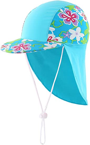 YISEVEN Kids/&Baby Sun Hat UV Protection Swim Hat with Neck Flap UPF50+