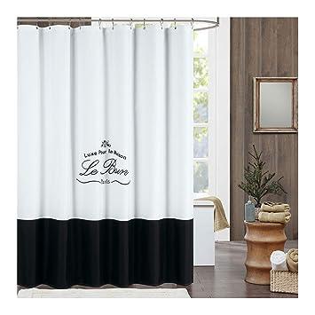 Moderne dusche mit duschvorhang  DS Bad Le Bain Vorhang für die Dusche, Polyester-Schimmelresistent ...