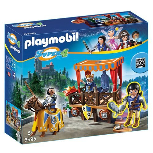 PLAYMOBIL® Super 4 Royal Tribune with Alex Figure Building Kit