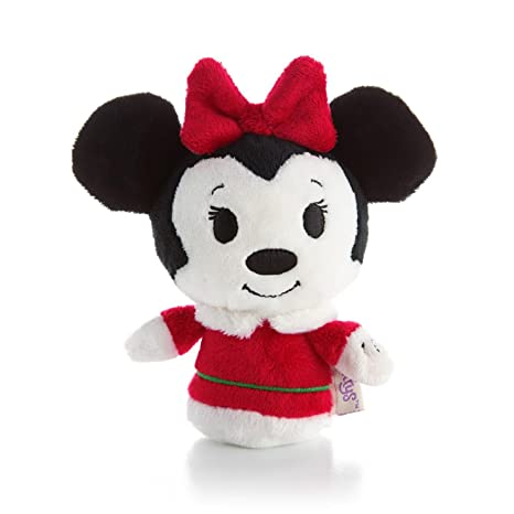 Christmas Minnie Mouse Plush.Hallmark Itty Bittys Christmas Minnie Mouse Plush
