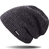 Hat for Men and Women Winter Warm Hats Knit Slouchy Thick Skull Cap by REDESS (Blue-gray)