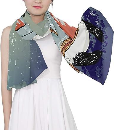 Anime Girl Panda Printing Scarf Warm Soft Fashion Scarf Shawl For Kids Boys Girls
