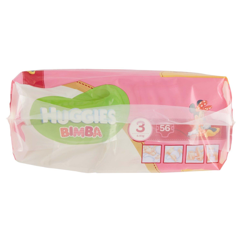 Huggies - Bimba - Pañales - Talla 3 (4-9 kg) - 56 pañales: Amazon.es: Salud y cuidado personal