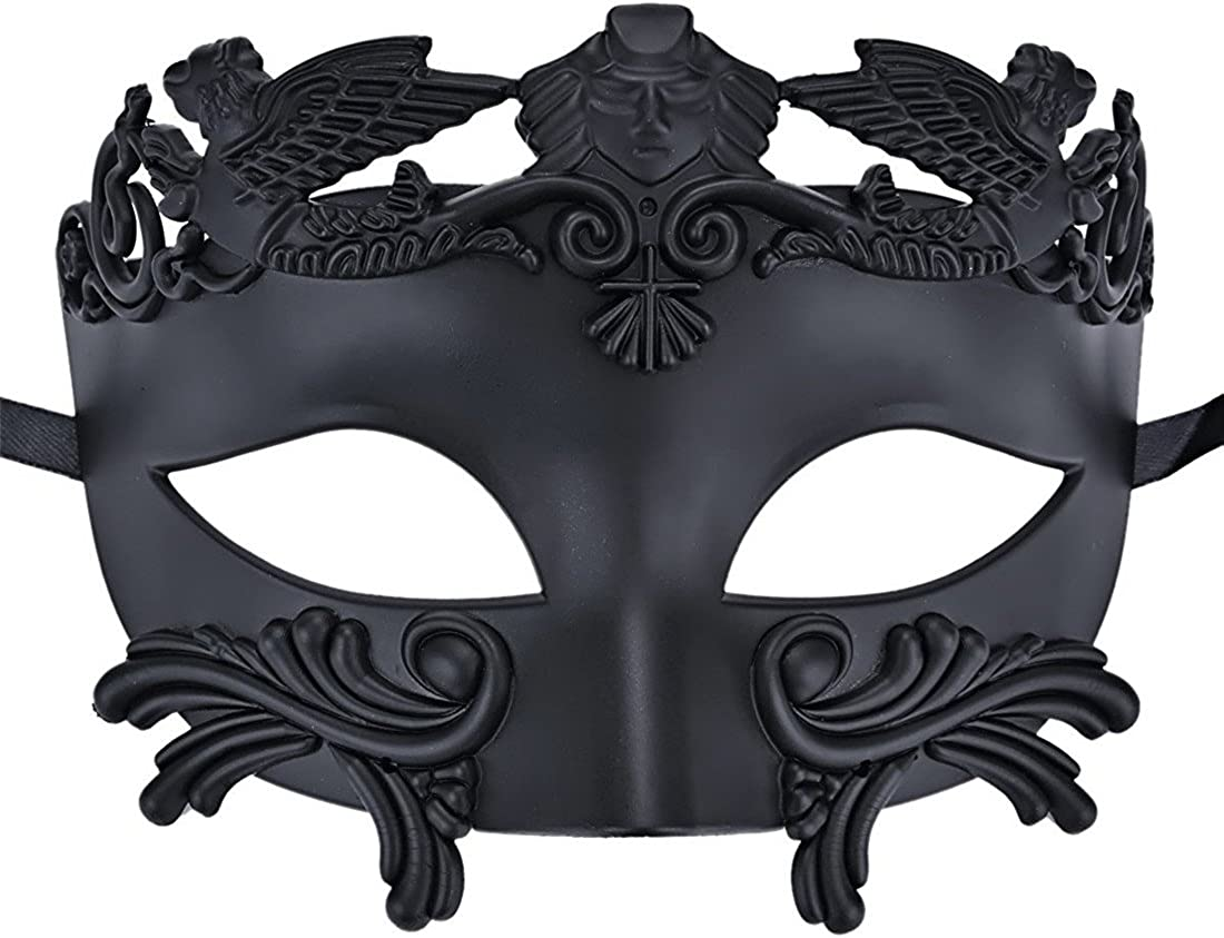 Coolwife Mens Masquerade Mask Vintage Venetian Greek Roman Colombina Mardi Gras Party Mask