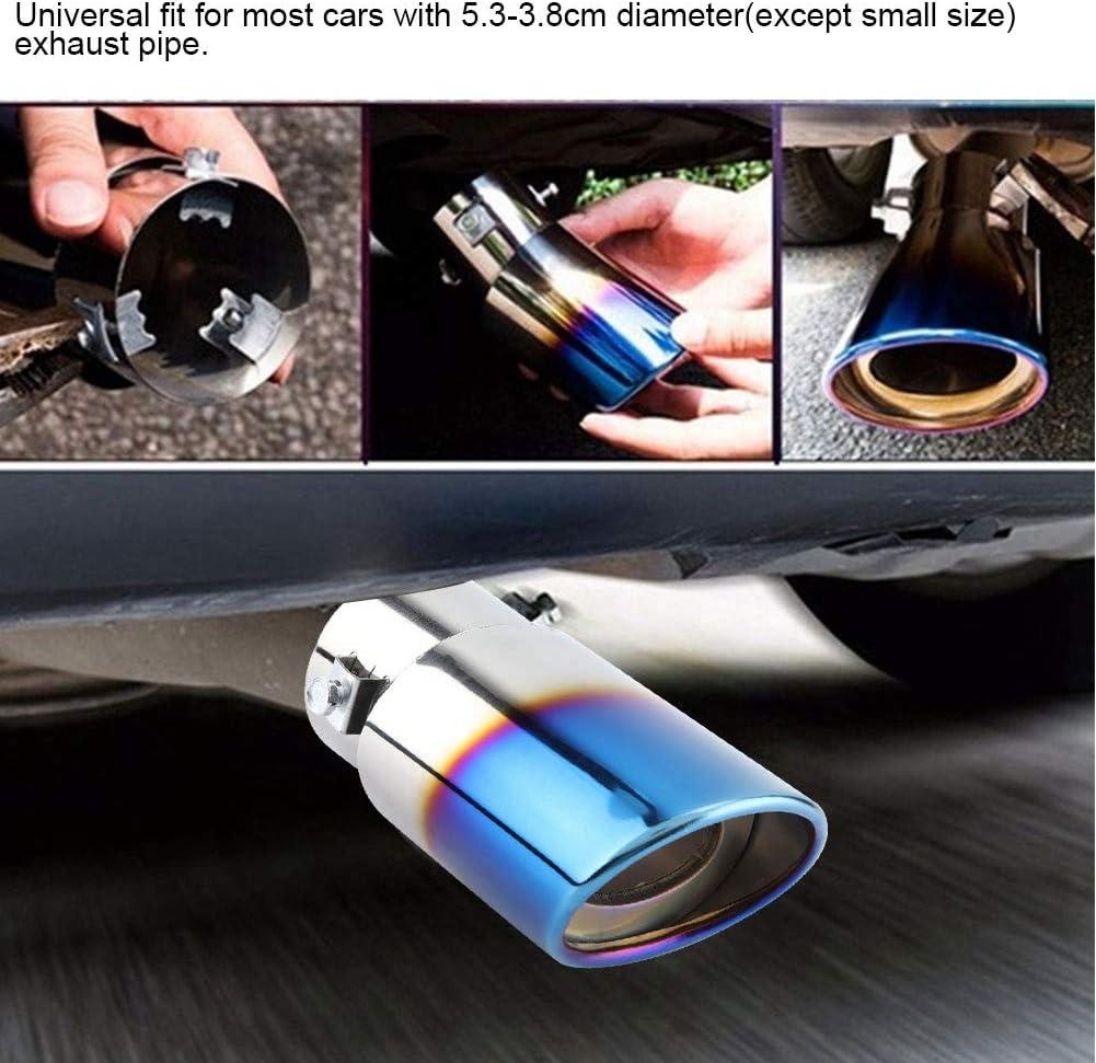 tubo di scarico dritto per auto universale in acciaio inossidabile blu cromato Tubo di scarico per auto