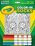 Kid's Crayola Color-In Socks - Includes 1 Pair Of Socks And 4 Fabric Markers - Sugar Skull Design