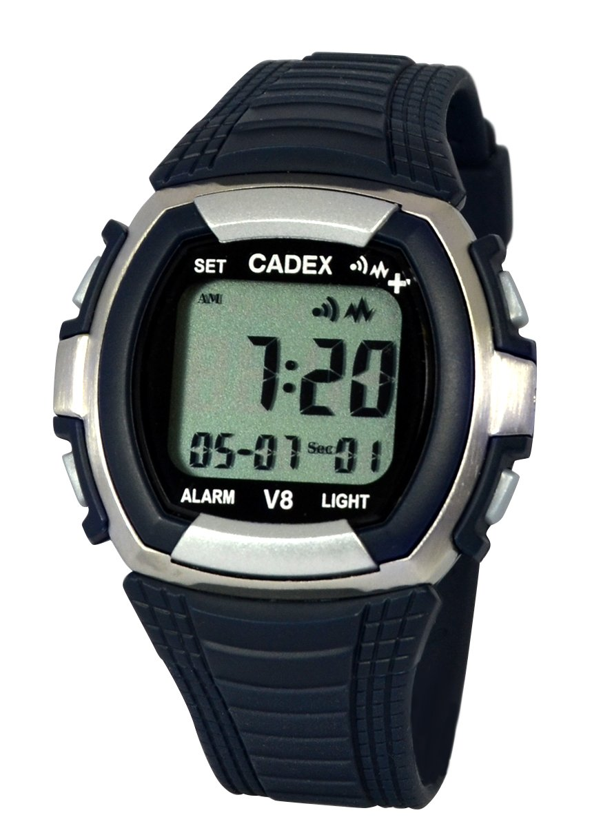 CADEX V8 Watch, Up to 8 Alarms, Strong Vibrating and/or Sound Alarms by Cadex