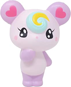iBloom Lollipop Girl Bear Slow Rising Squishy Toy (Claire, Grape Scented, 4.7 Inch) [Kawaii Squishies for Party Favors, Stress Balls, Birthday Gifts]