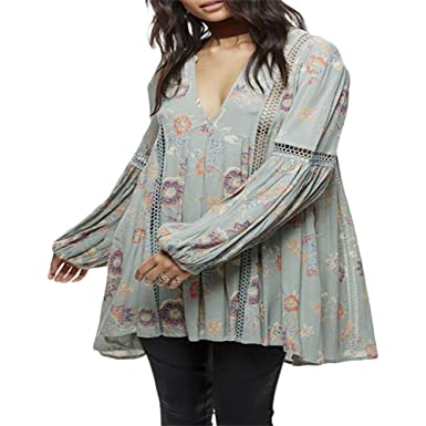 c2b2e10e60a Image Unavailable. Image not available for. Color: Free People Womens Just  The Two Of Us Floral Tunic ...