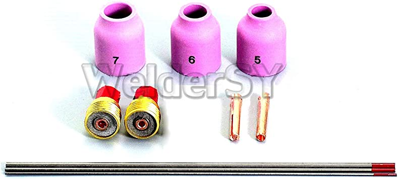 "3Pcs Fit SR DB PTA WP-9//20 25 Torch 45V44 3//32/"" 2.4mm TIG Gas Lens Collet Body"