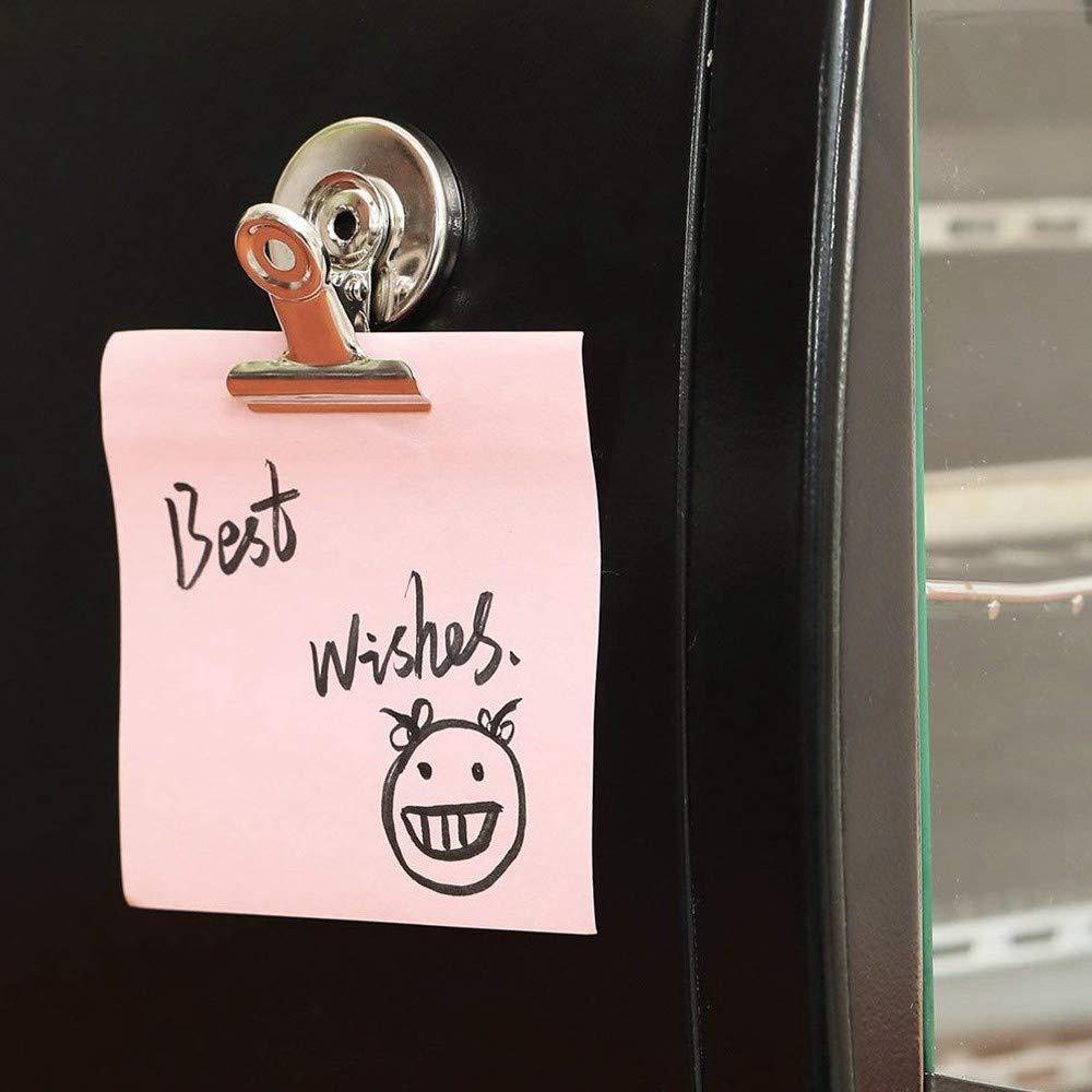 Nrpfell Clips Magn/éticos Fuertes Paquete de 12 Clips de Im/án de Refrigerador Lo Mejor para El Uso de La Escuela Oficina Casa 31mm de Ancho Seguro de Rasgu?o