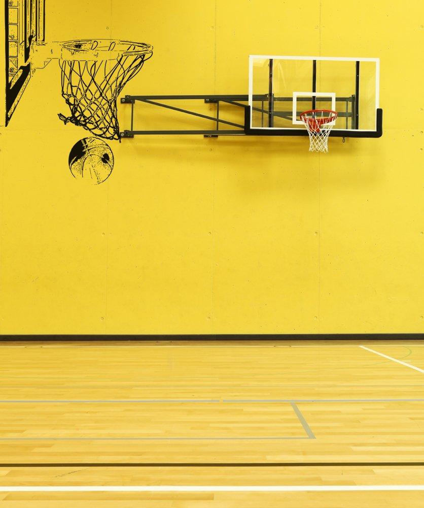 Amazon.com: Basketball Hoop and Ball Vinyl Wall Decal Sticker ...