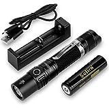Sofirn SP31 v2.0 Tactical Flashlight Ultra Bright Cree XPL HI LED Max 1200 Lumens, Features 5 Modes and Hidden Strobe…