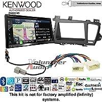 Volunteer Audio Kenwood DNX574S Double Din Radio Install Kit with GPS Navigation Apple CarPlay Android Auto Fits 2011-2013 Kia Optima