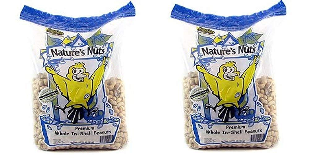 Natures Nuts Chuckanut Products Premium Whole-in-Shell Peanuts, 10 lbs (2-Pack)