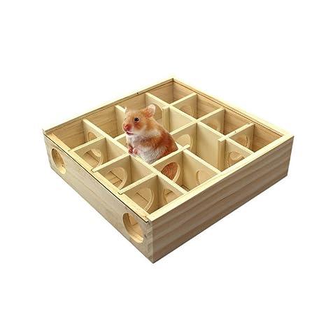 AOOPOO: juguete de madera para túnel de maquillaje para mascotas, para hámsteres, gerbilios