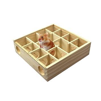 AOOPOO: juguete de madera para túnel de maquillaje para mascotas, para hámsteres, gerbilios y cobayas, ...